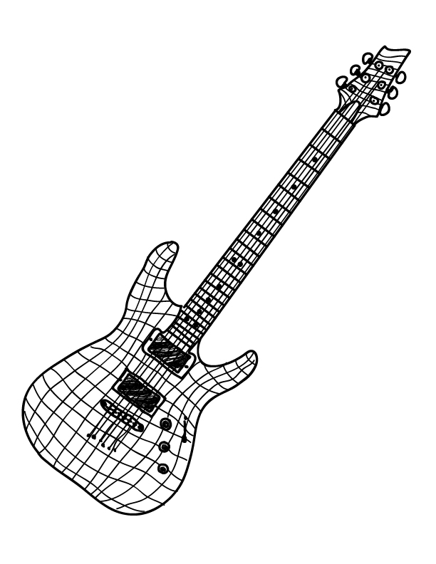 Contour Line Drawing Guitar : Week oct contour line drawing dcsm technology
