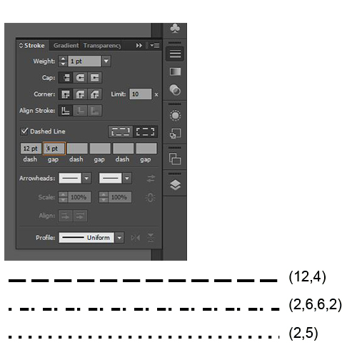 how to make a dotted line in illustrator cs6